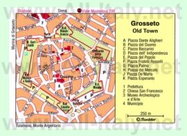 Туристическая карта Гроссето с достопримечательностями