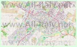 Подробная карта города Имола