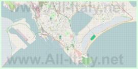 Подробная карта города Кальяри