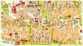 Туристическая карта Кальяри