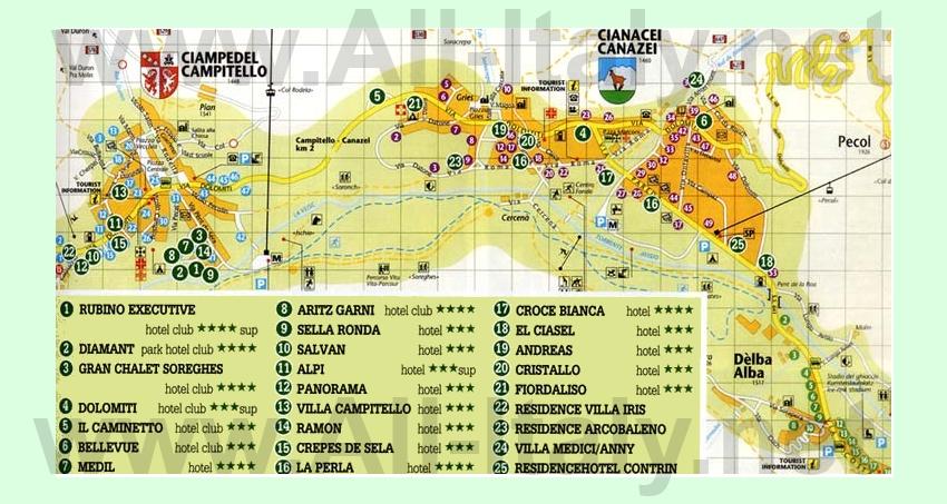 Карта отелей Канацеи