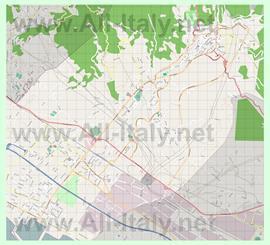 Подробная карта города Каррара