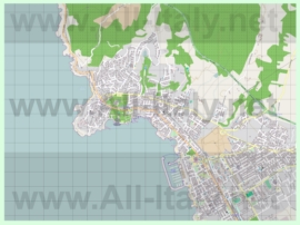 Подробная карта города Кастильончелло