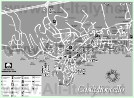 Туристическая карта Кастильончелло с достопримечательностями