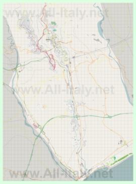 Подробная карта города Катандзаро