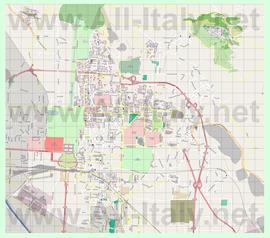 Подробная карта города Казерта