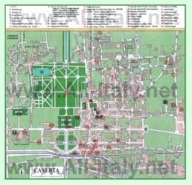 Туристическая карта Казерты с достопримечательностями