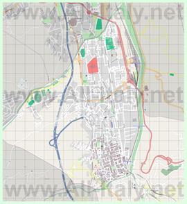 Подробная карта города Козенца