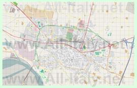 Подробная карта города Кремона