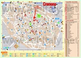 Туристическая карта Кремоны с отелями