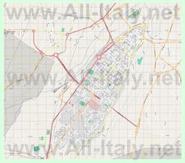 Подробная карта города Кунео