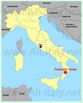 Ламеция-Терме на карте Италии