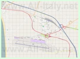Подробная карта города Ламеция-Терме