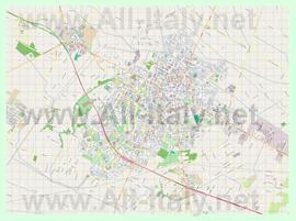 Подробная карта города Латина