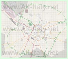 Подробная карта города Лечче