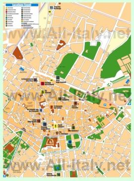 Туристическая карта Лечче с достопримечательностями