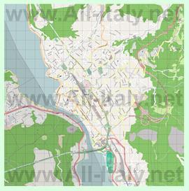 Подробная карта города Лекко