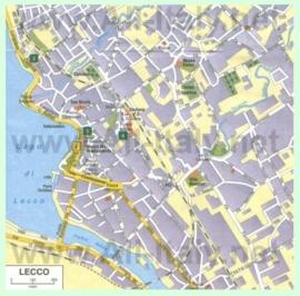 Туристическая карта Лекко с достопримечательностями
