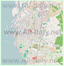 Подробная карта города Ливорно
