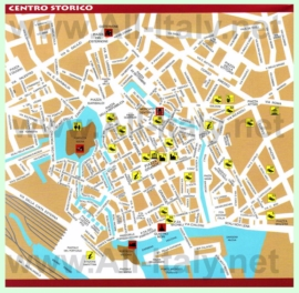 Туристическая карта ливорно с отелями