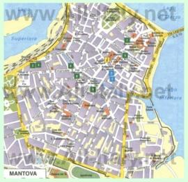 Карта Мантуи с достопримечательностями