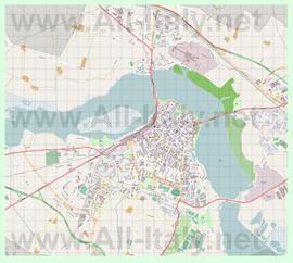 Подробная карта города Мантуя
