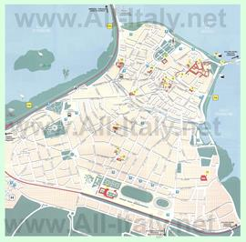 Туристическая карта Мантуи