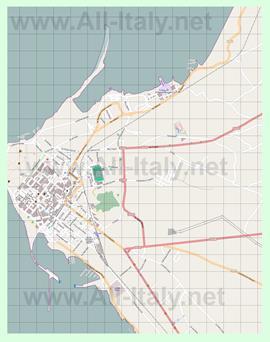 Подробная карта города Марсала