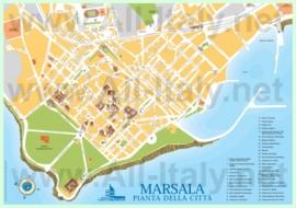 Туристическая карта Марсалы с достопримечательностями