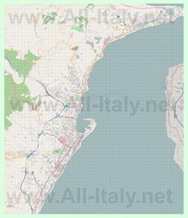 Подробная карта города Мессина