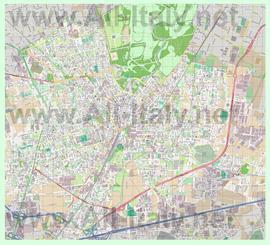 Подробная карта города Монца