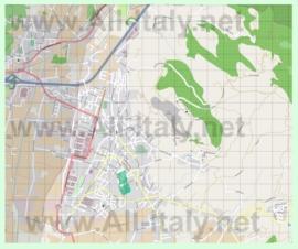 Подробная карта города Монсуммано