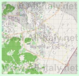 Подробная карта города Монтегротто-Терме