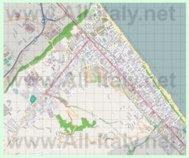 Подробная карта города Монтесильвано