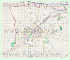 Подробная карта города Новара