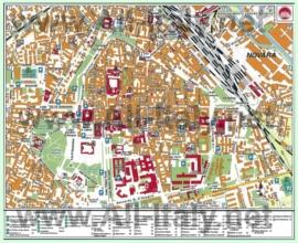 Туристическая карта Новары с достопримечательностями
