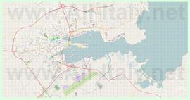 Подробная карта города Ольбия