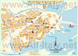 Туристическая карта Ольбии с достопримечательностями