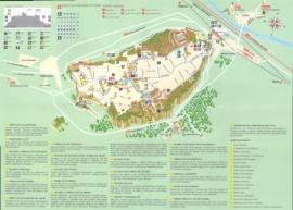 Подробная туристическая карта города Орвието с достопримечательностями