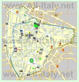 Туристическая карта Падуи
