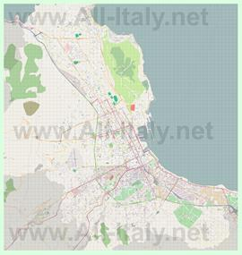 Подробная карта города Палермо