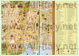 Туристическая карта Палермо с достопримечательностями