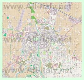 Подробная карта города Парма