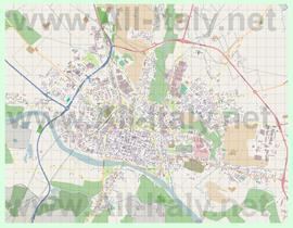 Подробная карта города Павия