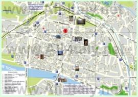Туристическая карта Павии с отелями и достопримечательностями