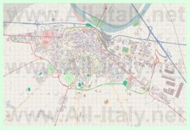 Подробная карта города Пьяченца