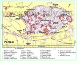 Карта Помпеи с достопримечательностями
