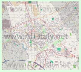 Подробная карта города Порденоне