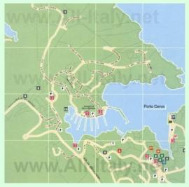 Подробная карта города Порто-Черво