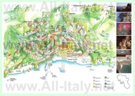 Подробная туристическая карта города Позитано